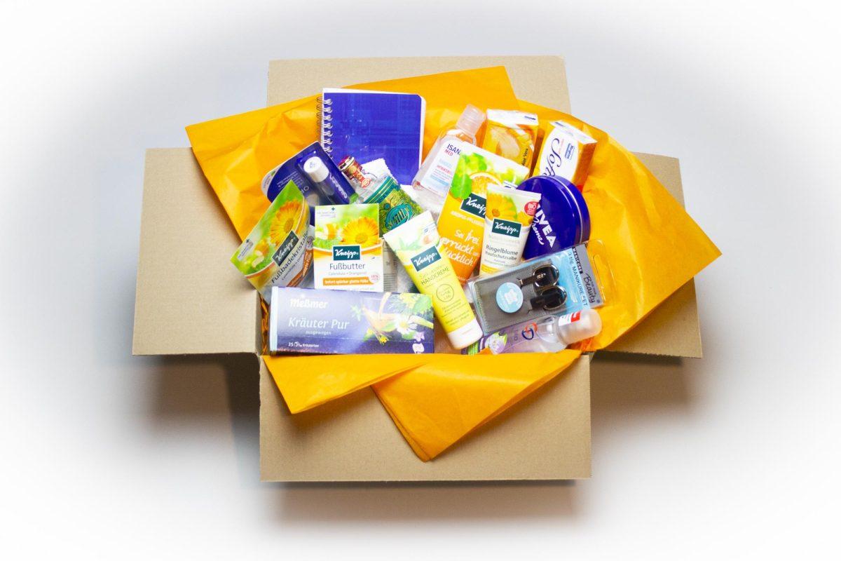 Geschenkidee - Die sonnige Wohlfühlbox