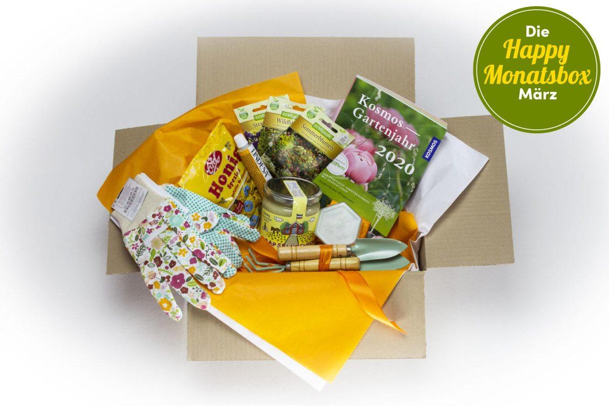 Die Happy Monatsbox im März für den Gartenfreund