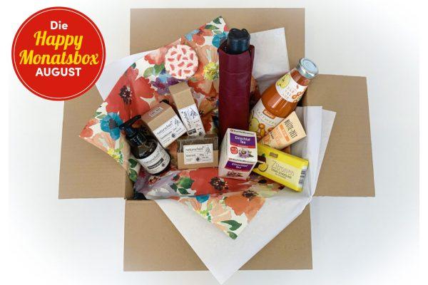 Die Geschenkidee im August: Happy Augustbox